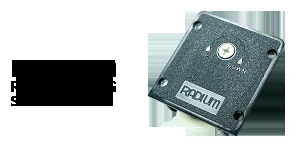 Radium Roda Sliding SD 31-41 Untuk Fitting Pintu Slide furnitur Kitchen Set (Kunci dan roda)